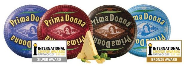 Prima Donna specialty cheeses win international cheese awards