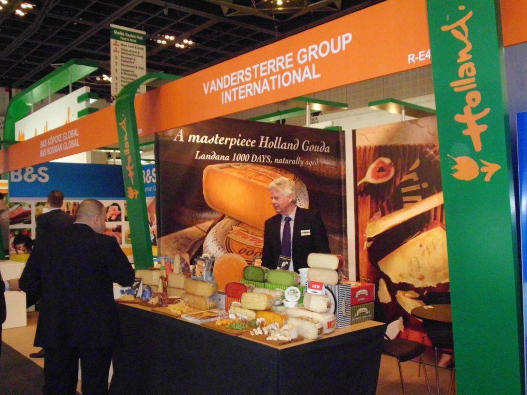 Prima Donna cheese at Gulfood tradefair in Dubai