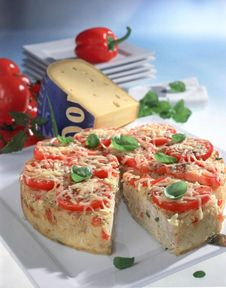 Peppers and rice tart
