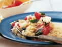 Risotto with roasted tomatoes and basil