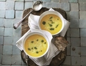 Pumpkin soup with herb oil