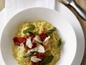 Saffron risotto with Serrano ham